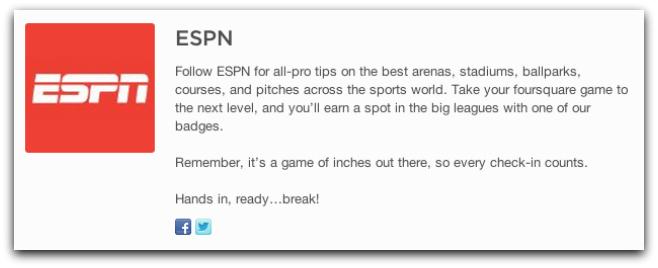 ESPN foursquare